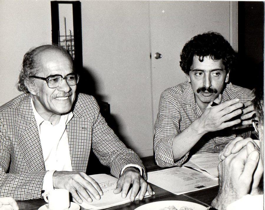 Juan Acha y Alberto Sierra. Foto: Lourdes Grobet