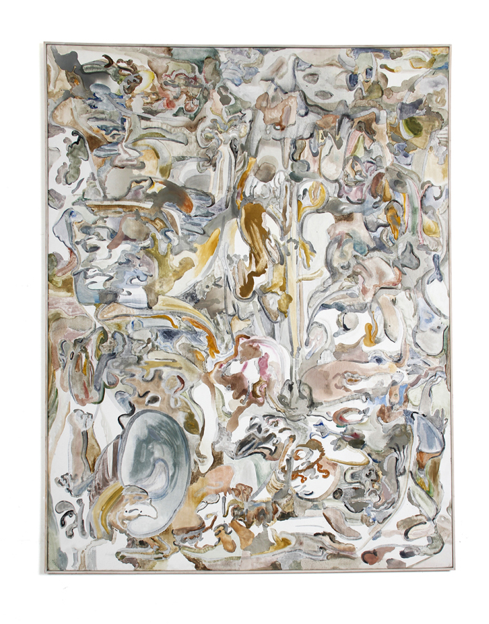 Alejandro Palacios, Molocumenbes, 2011, óleo sobre tela, 21o x 160 cm. Cortesía: The Intuitive Machine
