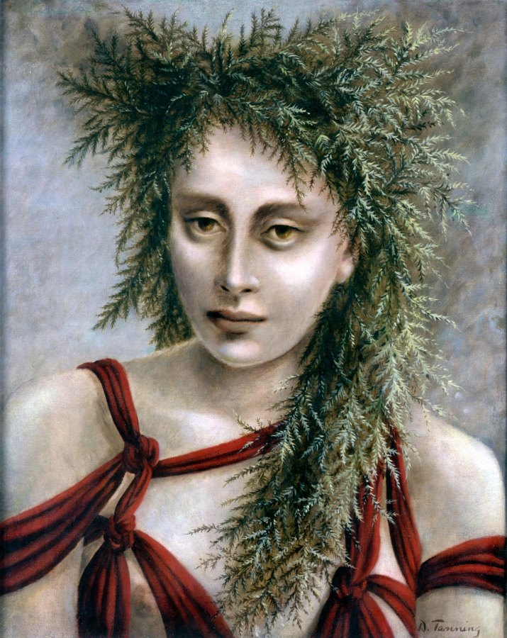 Dorothea Tanning, Deirdre, 1940, óleo sobre lienzo, 53,5 x 43,3 cm. Colección particular