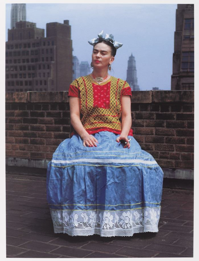 Nickolas Muray, Frida in New York, 1946; printed 2006. Carbon pigment print, image: 14 x 11 in. (35. 6 x 27.9 cm). Brooklyn Museum; Emily Winthrop Miles Fund, 2010.80. Photo by Nickolas Muray, Nickolas Muray Photo Archive. (Photo: Brooklyn Museum)