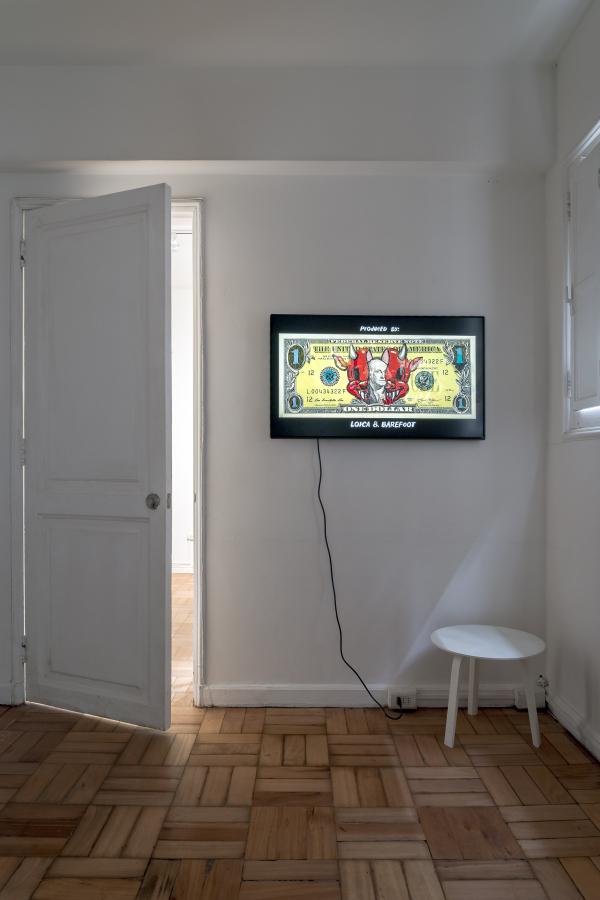 """Vista de la exposición """"La jaula invisible"""", de Víctor Castillo, en Isabel Croxatto Galería, Santiago de Chile, 2018. Foto: Sebastián González. Cortesía de Isabel Croxatto Galería"""