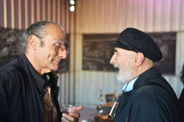 Antoni Miralda y Juan Pablo Langlois, en Sabores y Lenguas, Galería Metropolitana, Santiago de Chile, 2013. Foto:Andrés Cruz