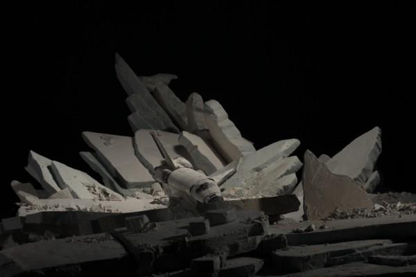 Gabriel Del Favero, Monument Blues, video-instalación, 2012