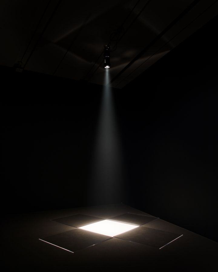 David Lamelas, Límite de una proyección II, 1967. Vista de la exposición Fiction of a Production, Broad Art Museum, Michigan State University, 2018. Foto: Eat Pomegranate Photography