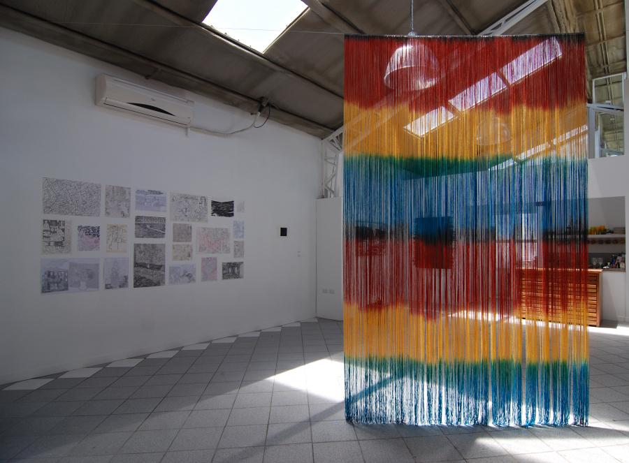 """Vista de la exposición """"Mangata"""" en Taller La Roca, Santiago de Chile, 2018. Cortesía de los artistas"""