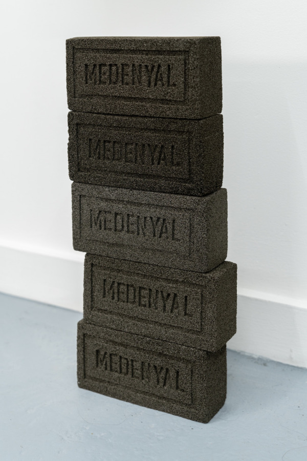 Pablo Gómez Uribe, Natural Untested Pumice Brick #1,2,3,4,5, 2018, 5 pumice bricks, 19.05 x 8.90 x 6.35 cm/7.50 x 3.50 x 2.50 in. Photo: Javier Morales