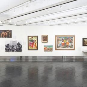 Vista del núcleo Ritos e ritmos, en la exposición Histórias Afro-Atlânticas, Museo de Arte de São Paulo (MASP), 2018. Foto cortesía de MASP
