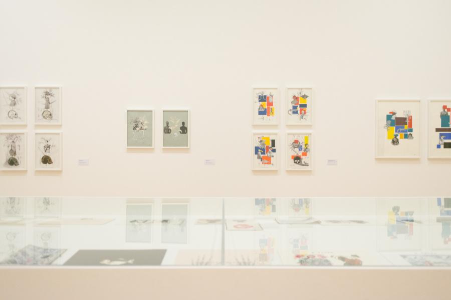 "Vista de la exposición ""Rosana Paulino: La costura de la memoria"", en la Pinacoteca de São Paulo, Brasil, 2018. Foto: Levi Fanan / Pinacoteca"