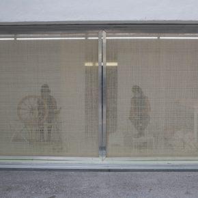 Gina Arizpe, Cuestión de tiempo, 2018, acción/intervención, Sala de Arte Público Siqueiros, Ciudad de México. Foto: María José Sesma.