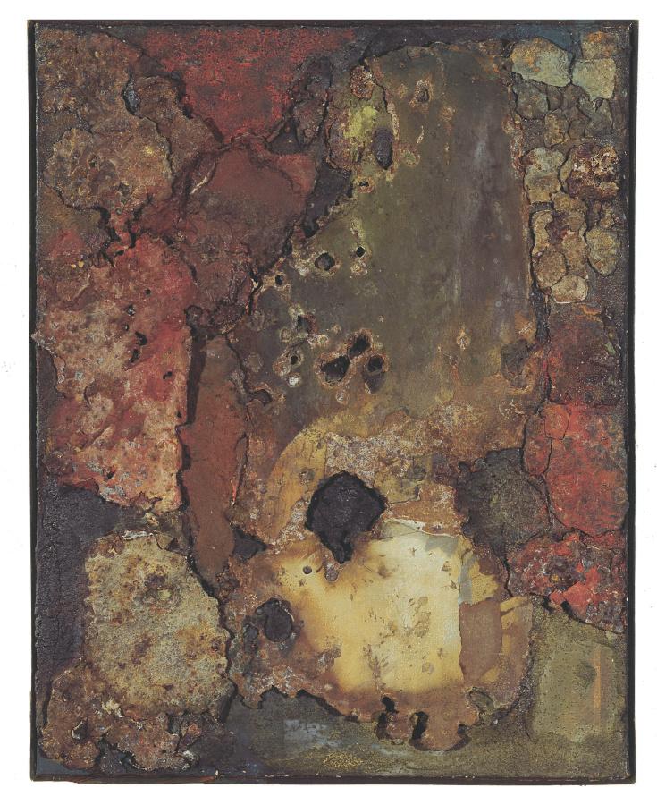Elsa Gramcko, Sin título, 1961, metal y barniz sobre tela. Colección Mercantil Arte y Cultura, Caracas.