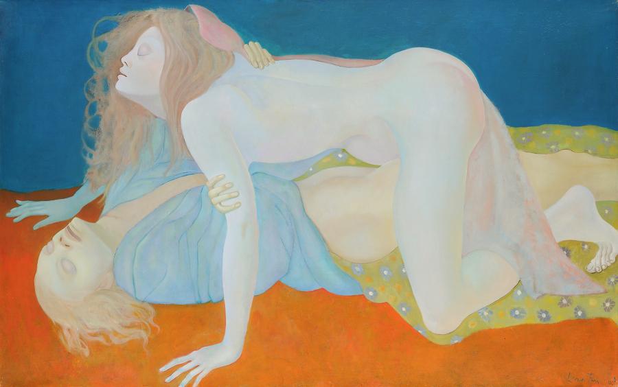 Leonor Fini, Los ciegos,1968, óleo sobre tela. Cortesía: Weinstein Gallery, San Francisco