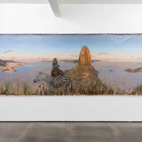 """Vista de la exposición """"Estudios Comparados de Paisaje"""", de Alberto Baraya, en Galeria Nara Roesler, Río de Janeiro, 2018. Foto: ©Pat Kilgore. Cortesía del artista y Galeria Nara Roesler"""