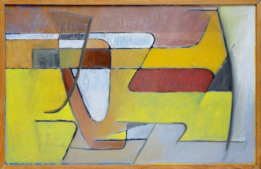 Wifredo Arcay, Alroa, 1950, óleo sobre lienzo, 67 x 103 x 4 cm. Cortesía: The Mayor Gallery, Londres