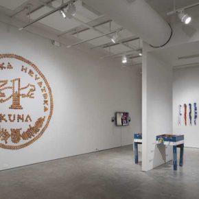 Vista de la exposición Holes in Maps, en 601 Artspace, Nueva York, 2019. Foto cortesía: 601 Artspace /Marie Guex