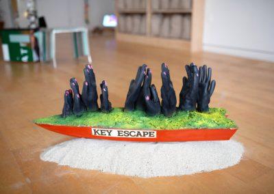 """Vista de la exposición """"Dust Specks on the Sea"""", en Hunter East Harlem Gallery, Nueva York, 2019. Foto: Natalie Conn"""