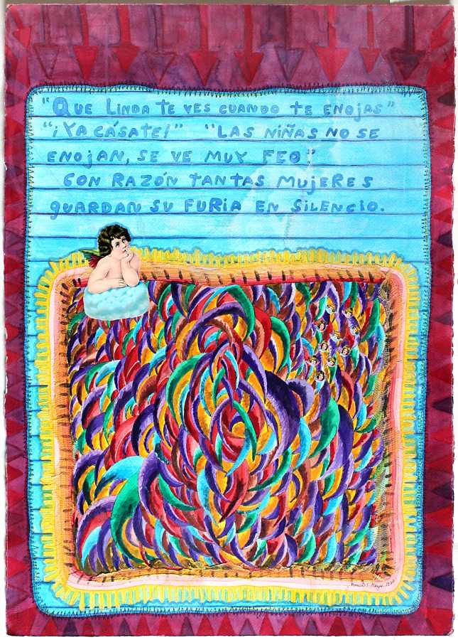 Mónica Mayer, Qué linda te ves cuando te enojas, 1980. Cortesía de la artista y Walden Gallery, Buenos Aires