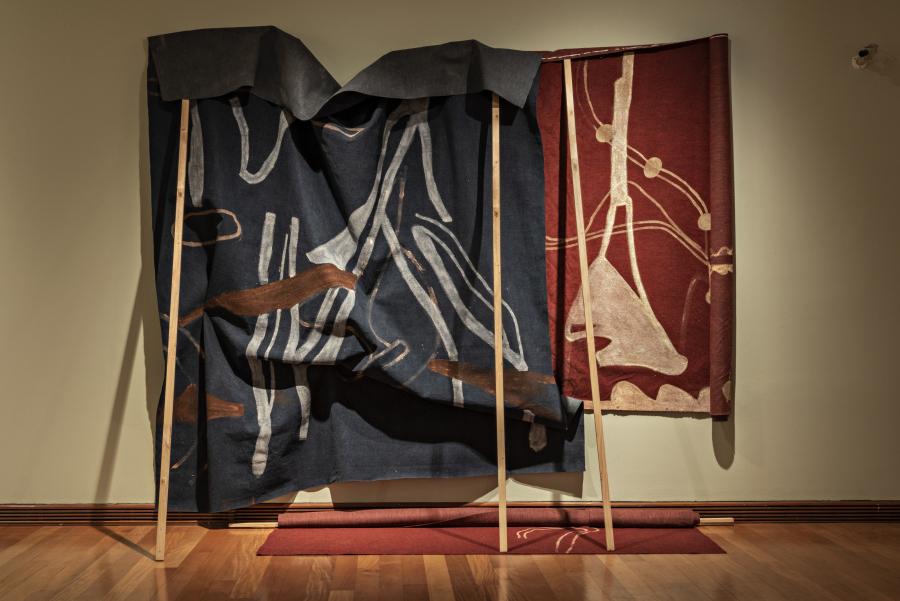 """Obra de Ciro Beltrán en """"Los Dominios Perdidos"""", Museo de Artes Visuales (MAVI), Santiago de Chile, 2019. Foto: Jorge Brantmayer"""