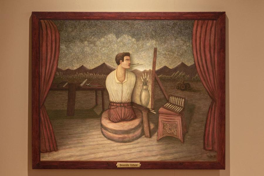 """Obra de Sebastián Lyton en """"Los Dominios Perdidos"""", Museo de Artes Visuales (MAVI), Santiago de Chile, 2019. Foto: Jorge Brantmayer"""