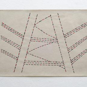 Sheroanawë Hakihiiwë, de la serie Huwe moshi (22), 2018, dibujo sobre papel de caña estucado, 50 x 70 cm. Cortesía: ABRA Caracas