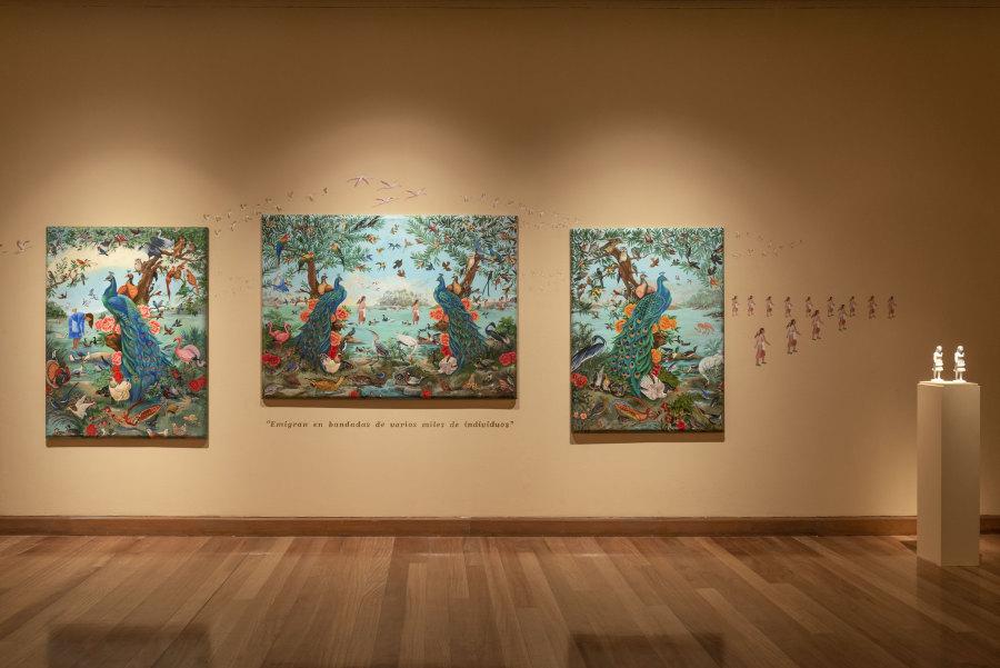 """Obras de Bruna Truffa en """"Los Dominios Perdidos"""", Museo de Artes Visuales (MAVI), Santiago de Chile, 2019. Foto: Jorge Brantmayer"""