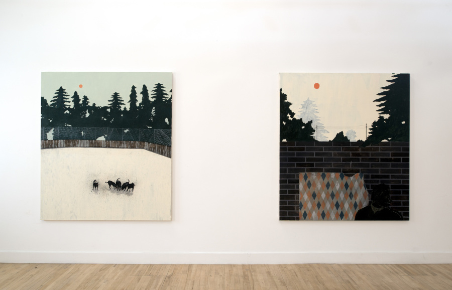 "Vista de la exposición ""The Burning Plain"", de Francisco Rodríguez Pino, en Cooke Latham Gallery, Londres, 2019. Cortesía del artista"