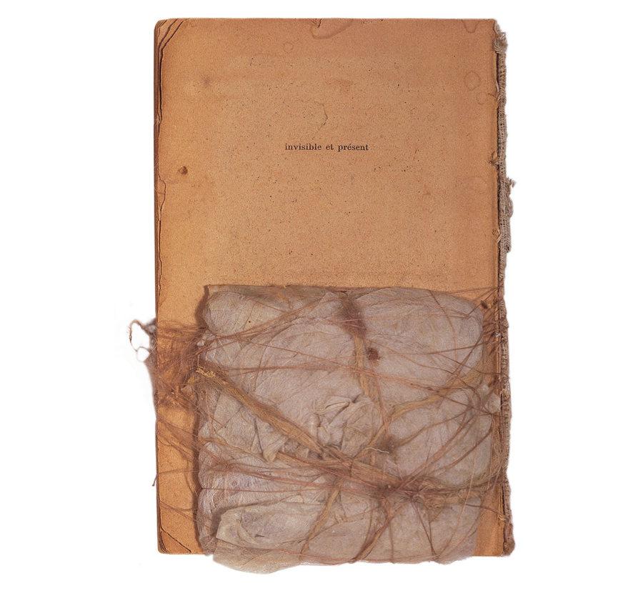 """Fernanda Gomes, """"Sin título"""" (1993). Papel e hilo. 17.5 x 11 x 1.5 cm. Fundación Museo Reina Sofía. Donación de Patricia Phelps de Cisneros en honor a Rosario Peiró."""
