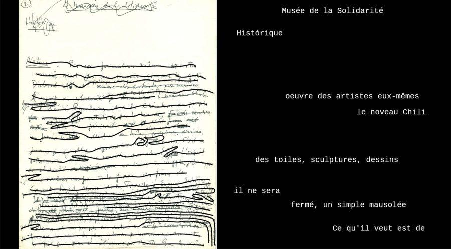 Carta de Mário Pedrosa. Cortesía: MSSA
