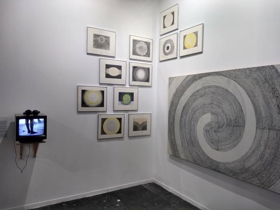 Obras de Juan Downey en Espaivisor (España), feria ARCO 2019. Foto: Alejandra Villasmil