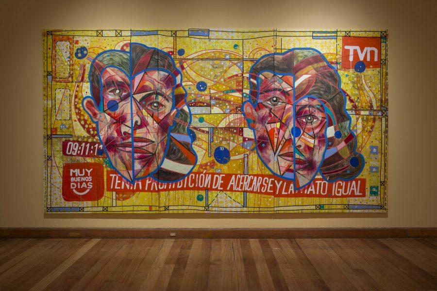 """Obra de Mario Soro en """"Los Dominios Perdidos"""", Museo de Artes Visuales (MAVI), Santiago de Chile, 2019. Foto: Luis Navarro"""