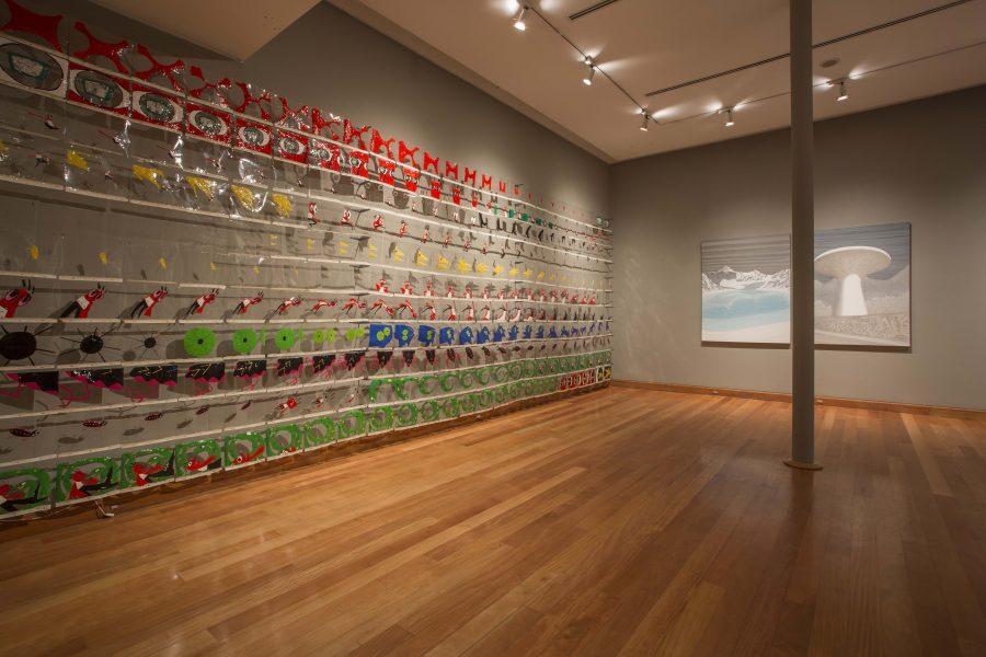 """Obra de Klaudia Kemper en """"Los Dominios Perdidos"""", Museo de Artes Visuales (MAVI), Santiago de Chile, 2019. Foto: Luis Navarro"""
