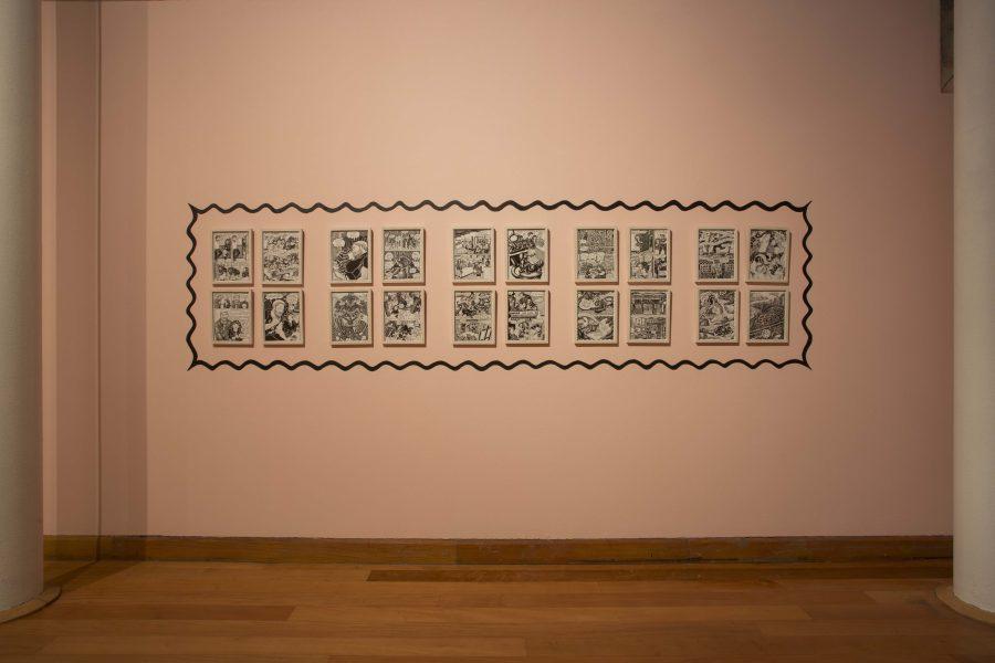 """Obra de Maliki en """"Los Dominios Perdidos"""", Museo de Artes Visuales (MAVI), Santiago de Chile, 2019. Foto: Luis Navarro"""