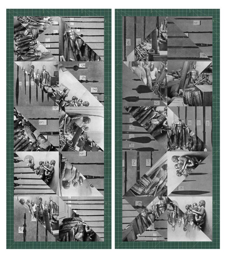 Nicole Franchy, 'Peculiar Arrangements', 2019, (díptico), collage, impresión a chorro de tinta sobre papel de algodón. Cortesía de la artista e IK Projects