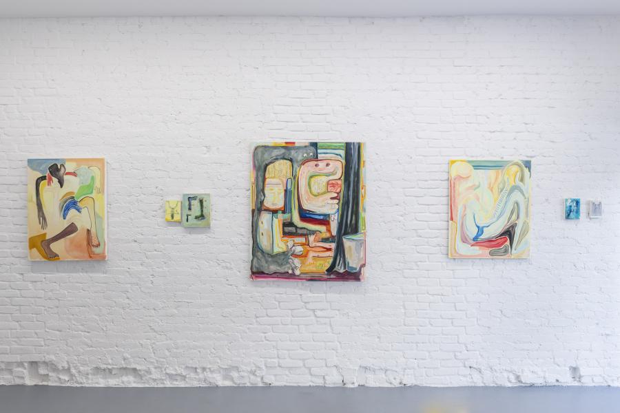 """Lucía Vidales at """"Terra Preta"""", Proxyco Gallery, New York, 2019. Photo: Zach Hyman. Courtesy: Proxyco Gallery, NY"""