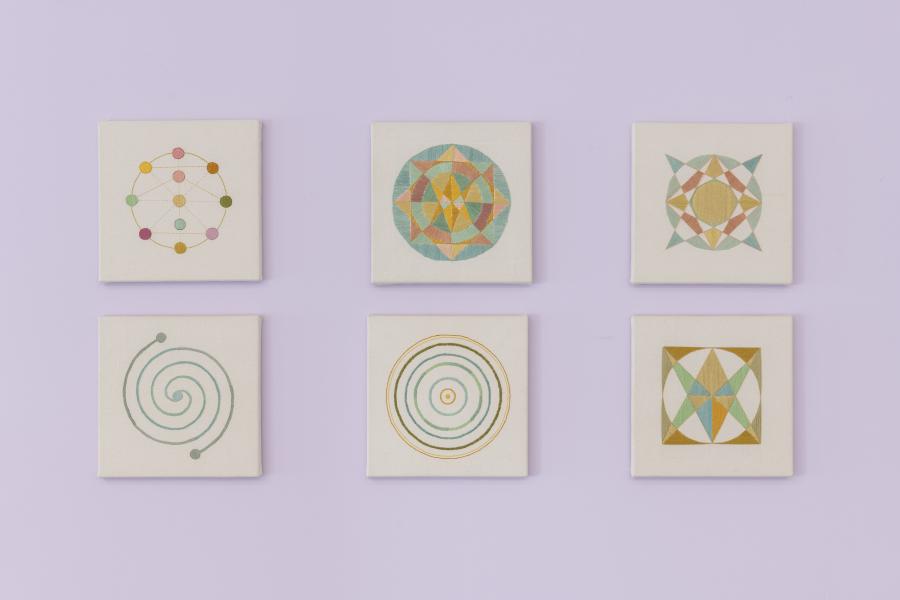Isa Carrillo, Hidden Messages 2, 2019, thread on fabric. Photo: Zach Hyman. Courtesy: Proxyco Gallery, NY
