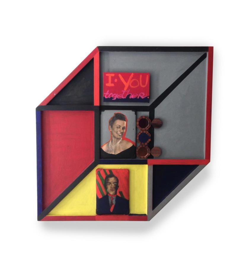 Rubens Gerchman, Sin título (Living Box), 1968/98, pintura y pegamento sobre madera. Cortesía: Galeria Superfície