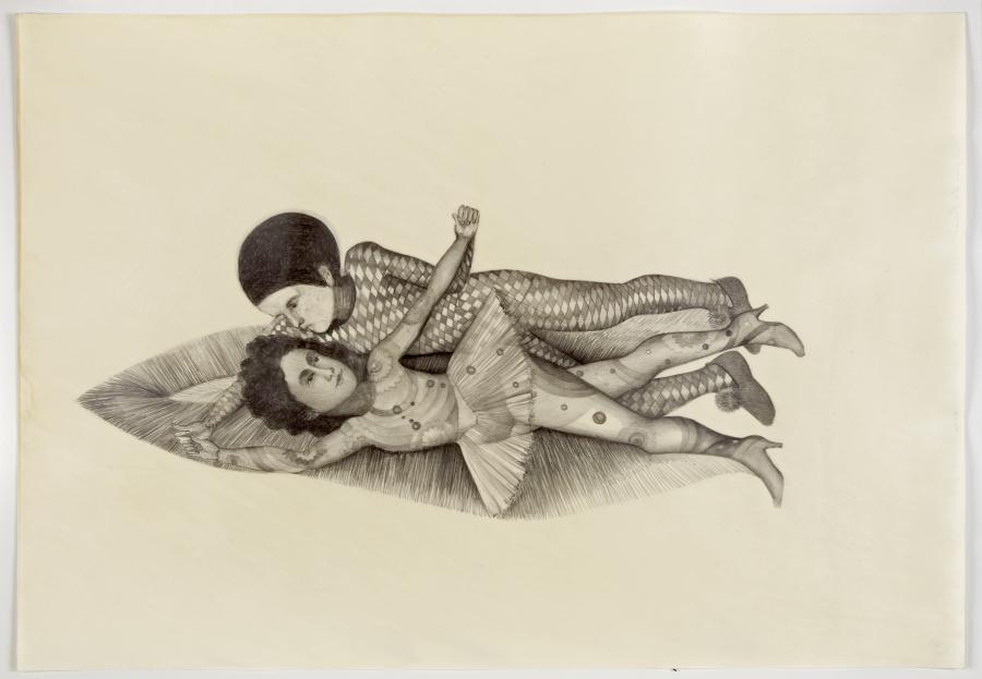 Sandra Vásquez de la Horra, 'Astros que brillan', 2014, grafito sobre papel, cera. Cortesía: Bendana Pinel Art Contemporain