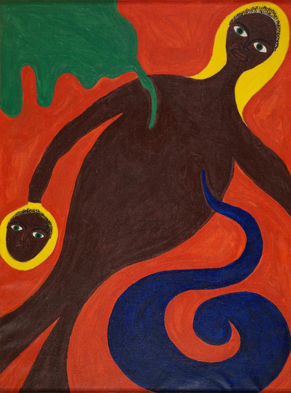 Abdias Nascimento, Yemanjá, Mãe das Águas e de Todos os Orixás, acrílico sobre tela, 52 x 70 cm. Rio de Janeiro