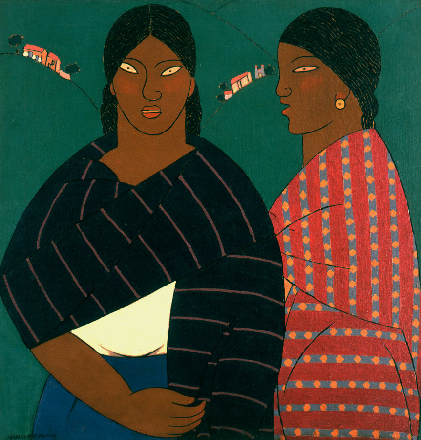 Carlos Mérida, Mujeres de Metepec, 1922, óleo sobre lienzo, 77,5 x 75,5 cm. Lance Aaron Collection, San Antonio. ©2018 Artists Rights Society (ARS), Nueva York / SOMAAP. Ciudad de México