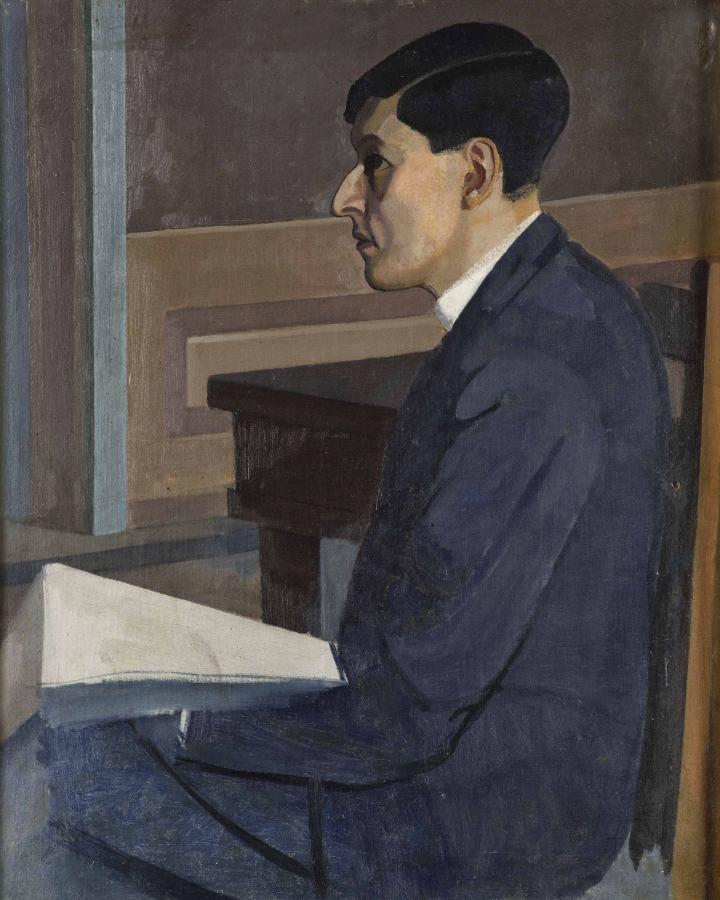 Emilio Pettoruti, José Carlos Mariátegui, 1921, óleo sobre lienzo, 63 x 51,5 cm. Museo de Arte de Lima. Derechos Reservados Fundación Pettoruti (www.pettoruti.com)