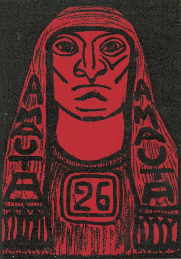 José Sabogal, Amauta, diseño de carátula, Lima, N° 26, sep-oct, 1929, 25,2 x 17,7 cm. Archivo Mariátegui, Lima
