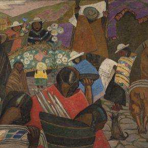 Julia Codesido, Mercado indígena, 1931, óleo sobre lienzo. Colección privada, Lima