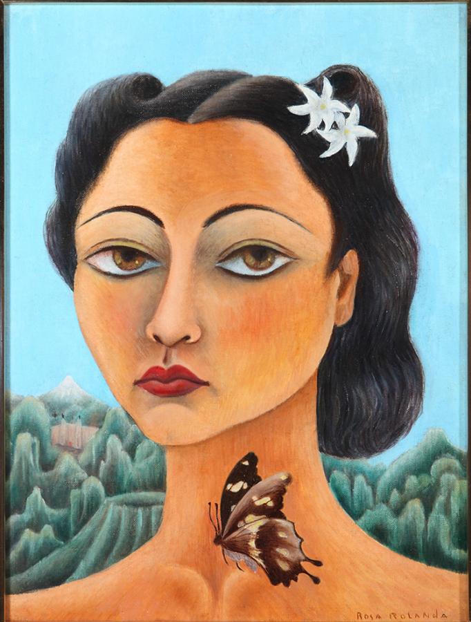 Rosemunde Cowan Ruelas, también conocida como Rosa Rolanda, Autorretrato, 1939, óleo sobre tela, 40 x 30 cm. México