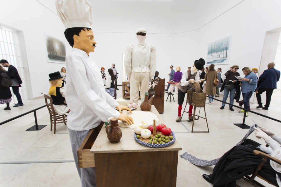 Pabellón de Bélgica y su proyecto Mondo Cane, de Jos de Gruyter y Harald Thys, con curaduría de Anne-Claire Schmitz. Foto: Francesco Galli. Cortesía: La Biennale di Venezia