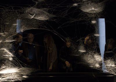 Tomás Saraceno, Spider/Web Pavilion 7: Oracle Readings, Weaving Arachnomancy, Synanthropic Futures: At-ten(t)sion to invertebrate rights!, 2019. 58° Bienal de Venecia (2019) [Giardini]. Foto: Francesco Galli. Cortesía: La Biennale di Venezia