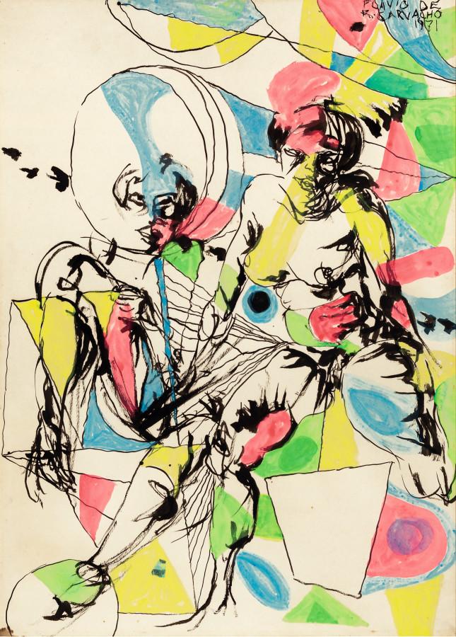 Flávio de Carvalho, Figuras, 1971. Cortesía: Sotheby's, Londres