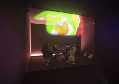 Dominique Gonzalez-Foerster, Endodrome, 2019, ambiente de realidad virtual. 58° Bienal de Venecia (2019) [Arsenale]. Foto: Italo Rondinella. Cortesía: La Biennale di Venezia
