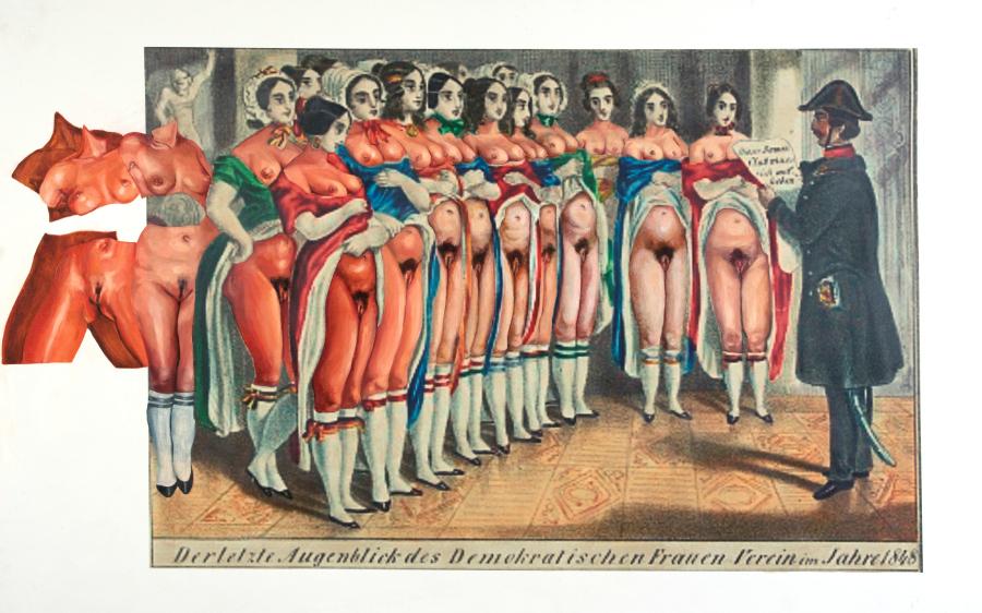 Voluspa Jarpa, Lips from the Women Club, Galería de Retratos Subalternos, 2019, 136 x 216 cm. Foto: Rodrigo Merino