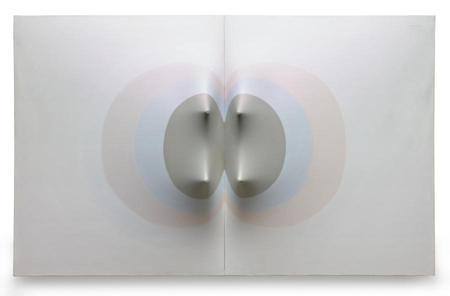 Zilia Sánchez, Amazonas (de la serie Topologías Eróticas), 1978, acrílico sobre lienzo ajustado, 43 × 70 × 11 pulgadas. Princeton University Art Museum, NJ