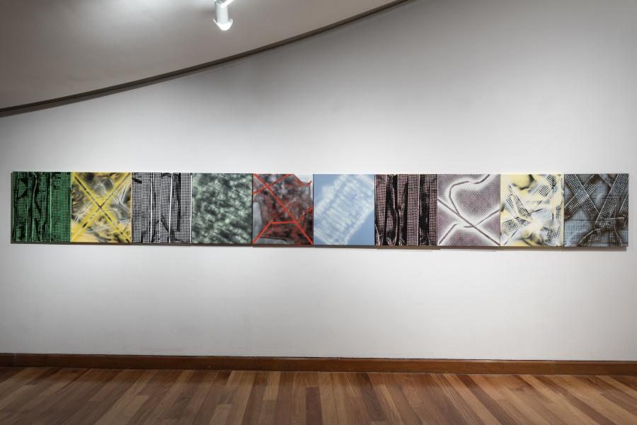 """Vista de la exposición """"Rehacer toda marcha a su antojo"""", de Raimundo Edwards, en el Museo de Artes Visuales (MAVI), Santiago de Chile, 2019. Foto: Jorge Brantmayer"""