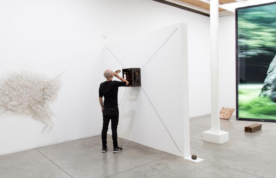 Vista de la exposición Lo bravo y lo manso, de Santiago Reyes Villaveces, en Instituto de Visión (IV), Bogotá, 2019. Cortesía del artista e IV